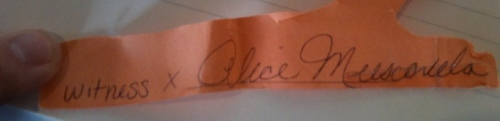 Alice Muscarella Signature